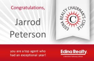 Chairman 2018 Edina Realty Jarrod Peterson Real Estate Group