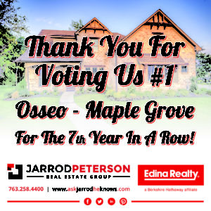 Readers Choice Awards Ad - Osseo and Maple Grove 2018 Jarrod Peterson Real Estate Group
